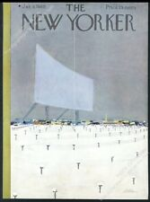 New Yorker magazine framing cover January 9 1960 drive-in movie theatre winter