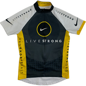 Nike Livestrong Cycling Jersey Made in Italy Tour De France Size XS 3/4 Zip Race