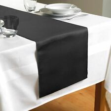 Country Club Sparkle Design Table Runner Black Polyester 180 X 35 Cm Approx.
