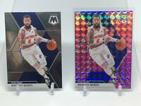 (2) Card Lot 2019-20 Panini Mosaic Markieff Morris Base & Pink Camo Prizm  #77
