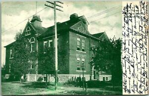 "1908 Pittsburg, Kansas Postcard ""State Manual Training School"" Building View"
