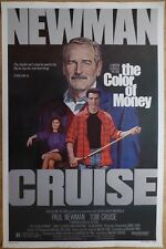 THE COLOR OF MONEY (1986) - original US 1 Sheet film/movie poster, Tom Cruise