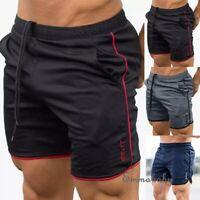Mens Shorts Gym Jogging Short Pants Slim Running Training Sport Wear Boxer Beach