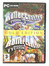 Rollercoaster Tycoon 3 + Distractions Sauvages Gold Jeu PC (roller coaster wild)