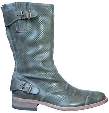 Belstaff Perforated Leather Roadmaster Italian Biker Boots EU Size 42 Shoes