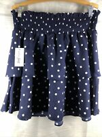 Maison Jules SMALL NWT SKIRT Navy Blue polka DOT SKRT SMOCK TOP MINI msrp $59