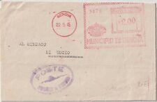 ITALIA 22/5 1943 UMBERTO RE DI MAGGIO AFFRANCATURA ROSSA DA GENOVA PER USCIO
