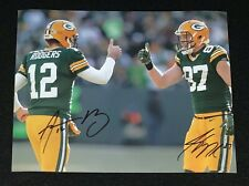 Jordy Nelson & Aaron Rodgers Green Bay Packers Signed 8x10 Photo COA