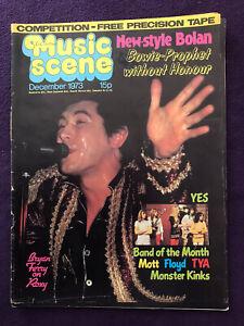Pop/Rock Music Magazine MUSIC SCENE Dec 1973 Bryan Ferry David Bowie Pink Floyd