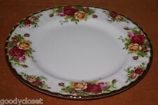 "VINTAGE  ROYAL ALBERT OLD COUNTRY ROSES 1962 PLATE 8""D GOLD TRIM PARTIAL LABEL"
