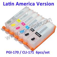 6pcs PGI-170 CLI-171 refillable ink cartridge for MG7710 TS8010 TS9010