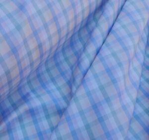 Brioni Italian cotton 100%, 'Pastel Check', (per metre) shirting fabric