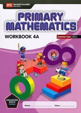 Primary Mathematics Common Core Edition Workbook 4A - FREE SHIPPING ! ! !