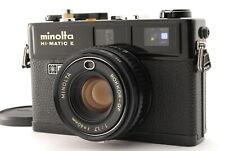 【Mint】Minolta Hi-Matic E Black Rangefinder Film Camera from Japan-#2363