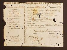 SPANISH COLONIAL SLAVERY DOCUMENT/ REGISTRO DE ESCLAVOS UTUADO PUERTO RICO 1871