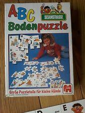 ***   A B C  Bodenpuzzle Sesamstrasse, Jumbo Spiel 1177, große Teile für kleine