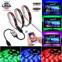 Bluetooth Control Wireless Smart RGB LED Strip Light USB Powered Sync W/ Music