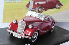OPEL SUPER 6 1937 1938 DARK RED IXO ALTAYA 1/43 ROADSTER CONVERTIBLE ROUGE FONCE