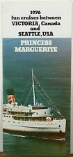 1976 Princess Marguerite Victoria BC Seattle WA vintage cruise brochure b