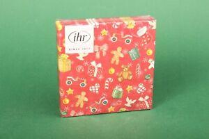 """IHR Servietten """"Festive Christmas Toys red"""" 25x25 cm Weihnachten Tischdeko"""