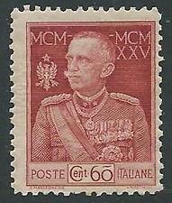 1925-26 REGNO GIUBILEO 60 CENT D. 11 MNH **  - M2-2