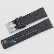 New Original DIESEL Replacement Watch Strap DZ4392 Black Genuine Leather 24mm