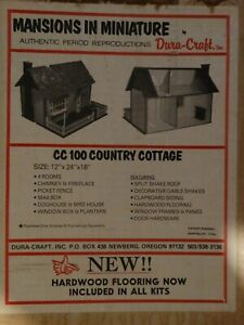 Vintage DURA-CRAFT Mansions in Miniature CC100 COUNTRY COTTAGE Dollhouse Kit