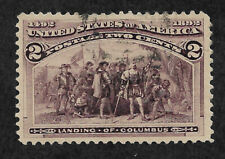 US # 231 (1893) 2c Landing of Columbus - Thin - Used - XF