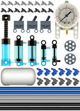 Lego Pneumatic AIR METER Blue Kit (air,tank,cylinder,pump,tube,manometer,switch)