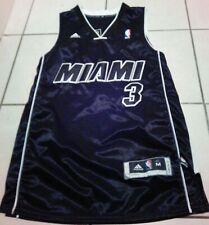Vintage Adidas Miami Heat Jersey Dwyane Wade #3 Sewn Youth Black NBA Basketball
