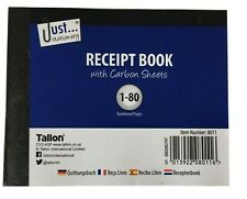 Receipt Book Half Size Invoice Numbered 1-80 Pages + Carbon papers Receipt