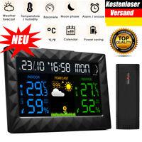 Funk Wetterstation Wettervorhersage Barometer Thermometer Hygrometer Außensensor