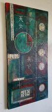 LARGE ORIGINAL ABSTRACT GEOMETRIC TEXTURED PAINTING ON CANVAS by KADAVIS ART