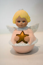 Painted Angel With Star - Round Angel Porcelain - Hand Painted K-Lin
