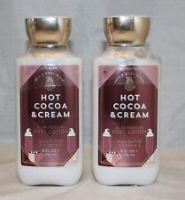 Bath & Body Works Hot Cocoa & Cream 24 Hour Moisture Body Lotion X 2