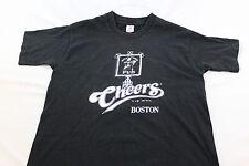 Black Large 'Cheers' Bull & Finch Pub Boston Mass T shirt TV show site