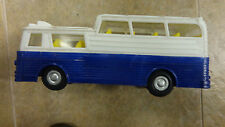 1960's VINTAGE MAK'S TOYS TOUR BUS  FRICTION  USED VERY RARE BLUE   HONG KONG