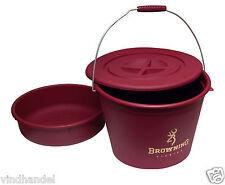 Browning Futtereimer  Eimer 30 Liter mit Deckel und Futterwanne 8514010
