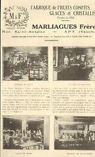 84 APT PUBLI-REPORTAGE MARLIAGUES FRERES FRUITS CONFITS 1926