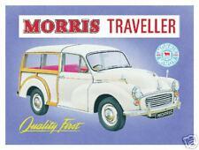 Morris Minor Traveller Steel Wall Sign     (fd)