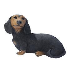 Puppy Dog: Black Dachshund Sculpture for Home or Garden