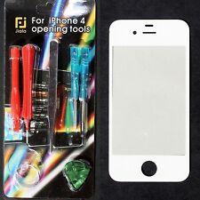 Front Glas Scheibe für Apple iPhone 4 4S Frontglas Display Weiß mit Reparaturset