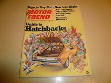 1972 Motor Trend October Guide Hatchbacks Maverick 6 Mercedes 350 SLC Mini Tests