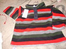 boys fleece pullover shirt 12-24 mo toddler stripes $32.95 gymboree new