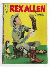 REX ALLEN COMICS no.3 GOLDEN AGE DELL COMIC BOOK Photo f&b covers 1952 Western