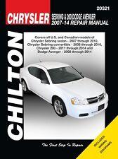Sebring & 200 / Dodge Avenger Repair Manual 2007-2014 By Chilton # 20321