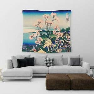 Large Wall Hanging Tapestry Japanese Anime Town Cotton Print Art Bedspread Throw