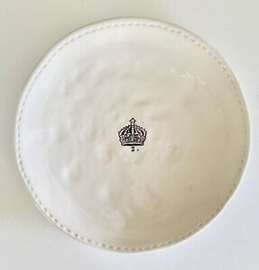 Rae Dunn by Magenta Crown Salad / Luncheon Plate 2.