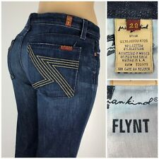 7 For All Mankind Womens 28 X 32 Jeans Flynt Embroidered Cut 720979 Distressed