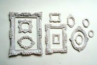Vintage Photo Frames Set of 11 Gothic Mini White Frame Decorative Round Square